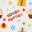 Vector happy birthday background , seamless pattern — Stok fotoğraf