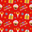 Stock fotografie: Vector happy birthday background , seamless pattern
