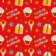 Foto de Stock  : Vector happy birthday background , seamless pattern