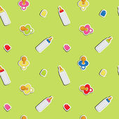 Cute baby background, seamless pattern, vector — Foto de Stock