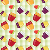 Vector background with jam, seamless pattern — Stock Photo