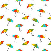 Vector background with umbrellas , seamless pattern — Stock Photo