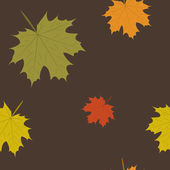 Vector summer and autumn background with leaves, seamless pattern — Stock Photo