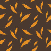 Vector background with feathers , seamless pattern — Foto de Stock