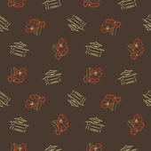 Japanese vintage vector background , seamless pattern — Stock Photo
