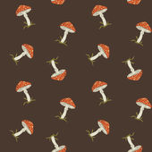 Vector summer background with fly agaric, seamless pattern — Stock Photo