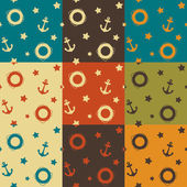 Set of vector summer backgrounds, seamless pattern — Stock Photo