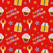 Vector happy birthday background , seamless pattern — Stock Photo