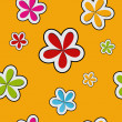 Stock Photo: Vector floral background , seamless pattern