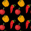 Vector summer background with vegetables, seamless pattern — Stock Photo #23080504