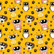 Vector background with cartoon animals , seamless pattern — Εικόνα Αρχείου #23080524