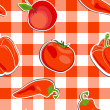 Vector summer background with  vegetables, seamless pattern — Stockfoto