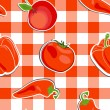 Vector summer background with vegetables, seamless pattern — Stock Photo #23080548
