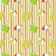 Stock Photo: Colorful seamless summer (beach) pattern , vector