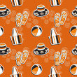 Seamless summer (beach) pattern , vector — Stock Photo #23080604