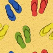Colorful seamless summer (beach) pattern , vector — Stock Photo #23080610