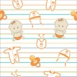 Stock Photo: Cute baby background, seamless pattern, vector