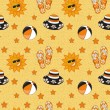 Seamless summer (beach) pattern , vector — Stock Photo #23080628