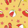 Colorful seamless summer (beach) pattern , vector — Stock Photo #23080630