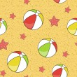 Colorful seamless summer (beach) pattern , vector — Foto de Stock
