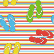 Colorful seamless summer pattern  with slippers, vector — Stock Photo