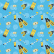 Vector underwater summer background, seamless pattern — Stock Photo #23080652