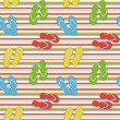 Stock Photo: Colorful seamless summer pattern with slippers, vector