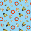 Vector underwater summer background, seamless pattern — Photo