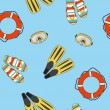 Vector underwater summer background, seamless pattern — Foto Stock