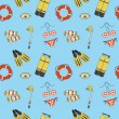 Vector underwater summer background, seamless pattern — Stock Photo #23084440
