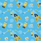 Vector underwater summer background, seamless pattern — Stock Photo