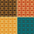 Set of abstract geometric seamless patterns, vector illustration — Stockfoto