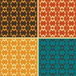 Set of abstract geometric seamless patterns, vector illustration — Stock Photo