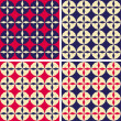 Set of abstract geometric seamless patterns, vector illustration — 图库照片
