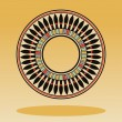 Egyptian national round pattern — Stock Vector