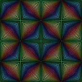Geometric rainbow pattern — Stock Vector
