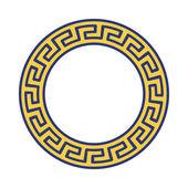 Grecki narodowy okrągły wzór — Wektor stockowy
