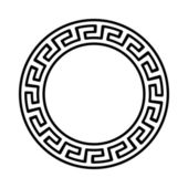 Greek national round pattern — Stockvector