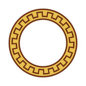 Greek national round pattern — Stock Vector