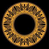 греческий национальный круглый шаблон — Cтоковый вектор