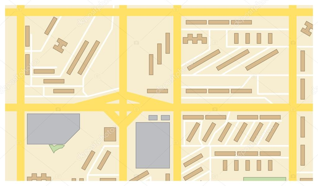 矢量绘图的城市地图,背景
