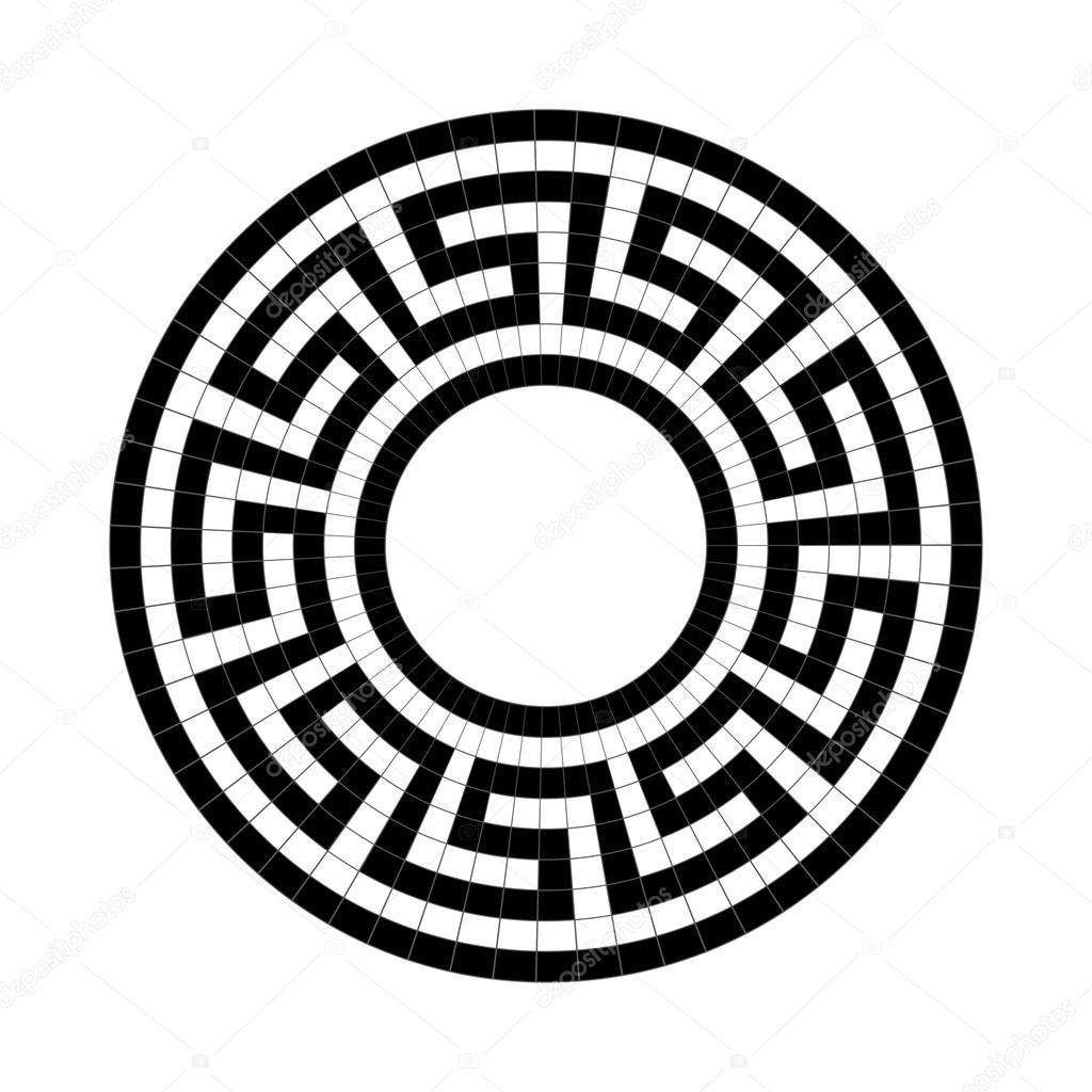 希腊民族圆形图案 — 图库矢量图像08