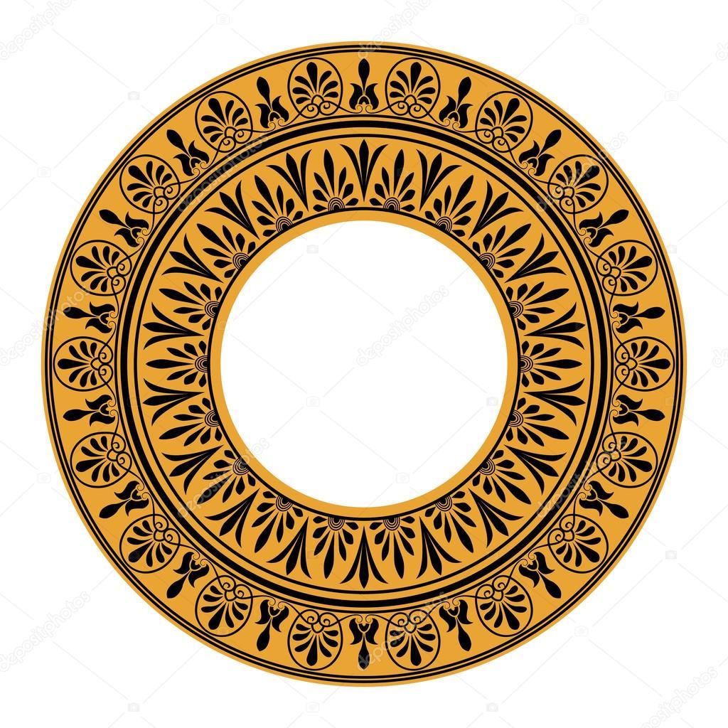 Греческий национальный круглый шаблон — Векторное ...: http://ru.depositphotos.com/34479017/stock-illustration-greek-national-round-pattern.html