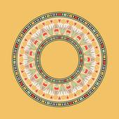 Egyptiska nationella runda mönster — Stockvektor