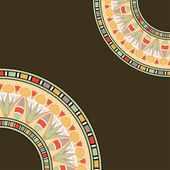 Inbjudningskort med egyptiska mönster — Stockvektor