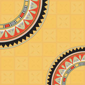 Invitation card with egyptian pattern — Vecteur