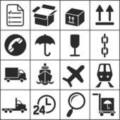 Set of flat simple web icons — Vector de stock