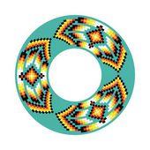 Ornamento del círculo. — Vector de stock