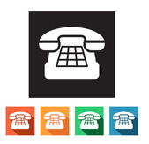 Set of flat icons (phone, telephone, communication) — Vector de stock