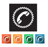 Set of flat icons (phone, telephone, communication) — Stock Vector
